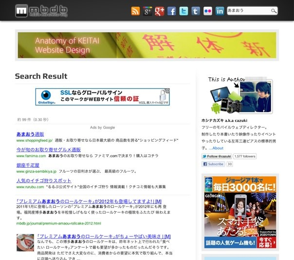 mbdbでのGoogleカスタム検索結果