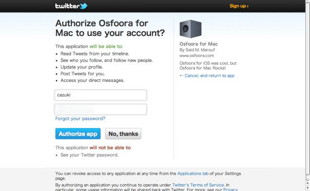 Osfoora for Mac