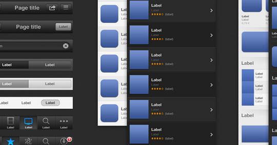 iOS6 GUI PSD