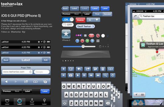 iOS6 GUI PSD(iPhone5)