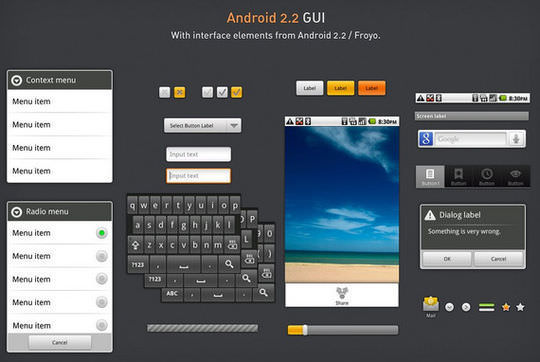 Android 2.2 GUI PSD