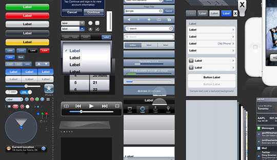 iOS5 GUI PSD (iPhone4S)