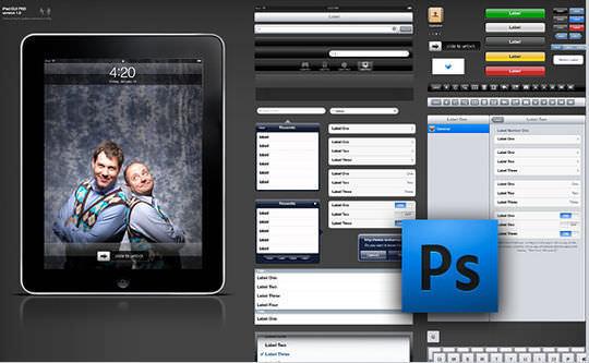 iPad GUI PSD