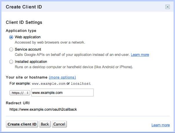 Create Client ID