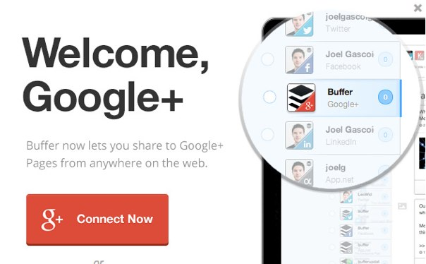 Buffer with Google+ Pages