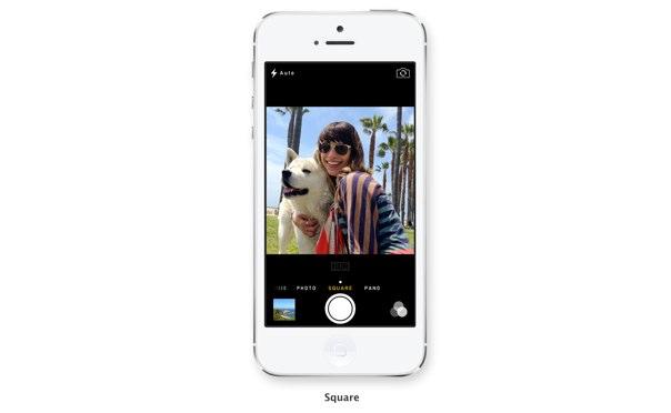 iOS 7 カメラ スクエアフォーマット