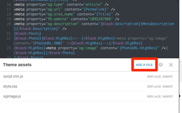 Tumblr Edit HTML - Theme assets