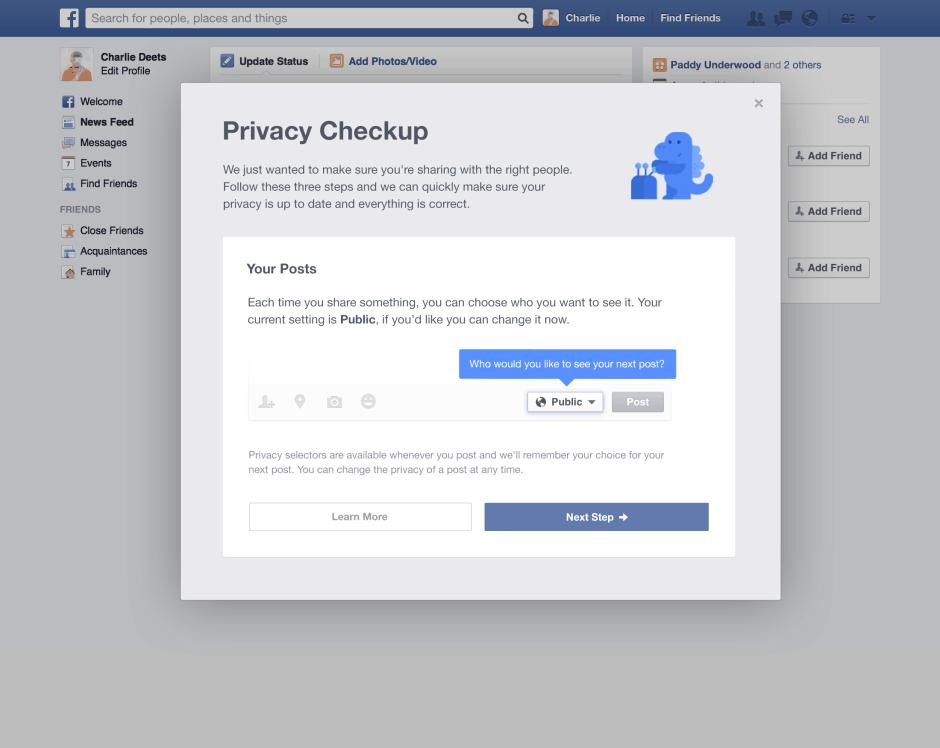 プライバシー設定の確認