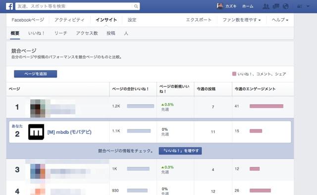新デザインFacebookページ