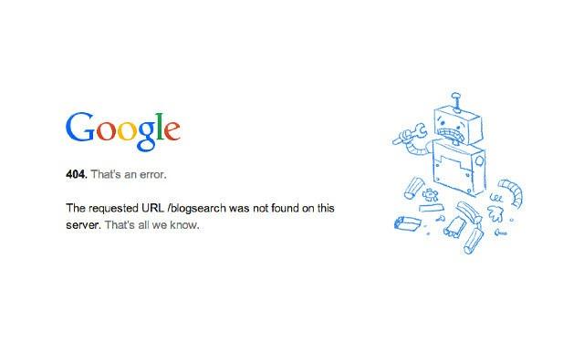 Googleブログ検索終了