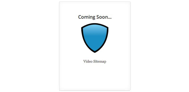 Coming Soon... Video Sitemap