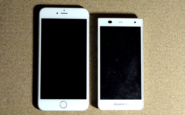iPhone 6 PlusとArrows NX F-05F