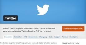 Twitterが公式WordPressプラグイン「Twitter」を提供開始