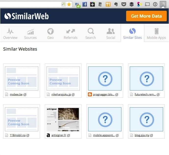 SimilarWeb Similar Sites