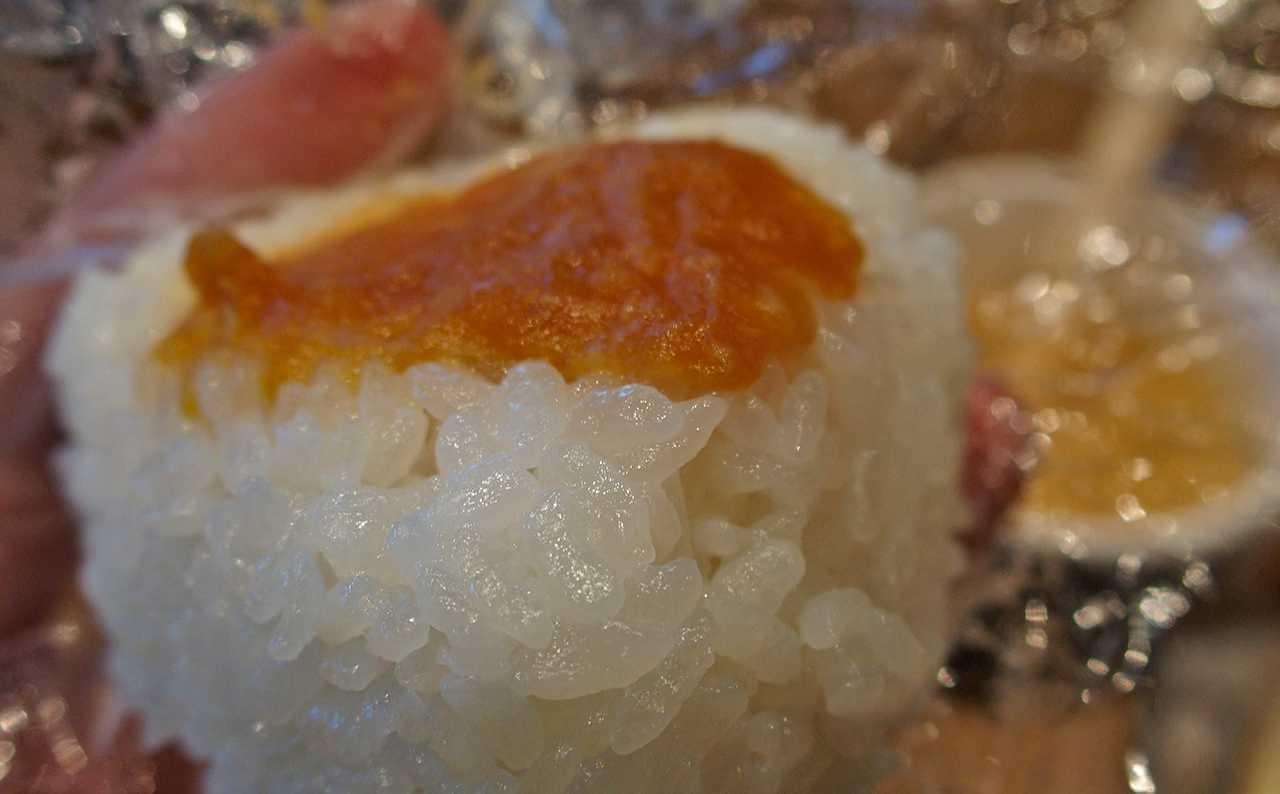 天栄米のおにぎり