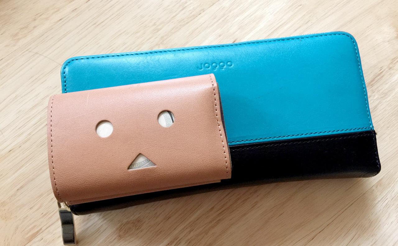 小さい財布とJOGGOの長財布