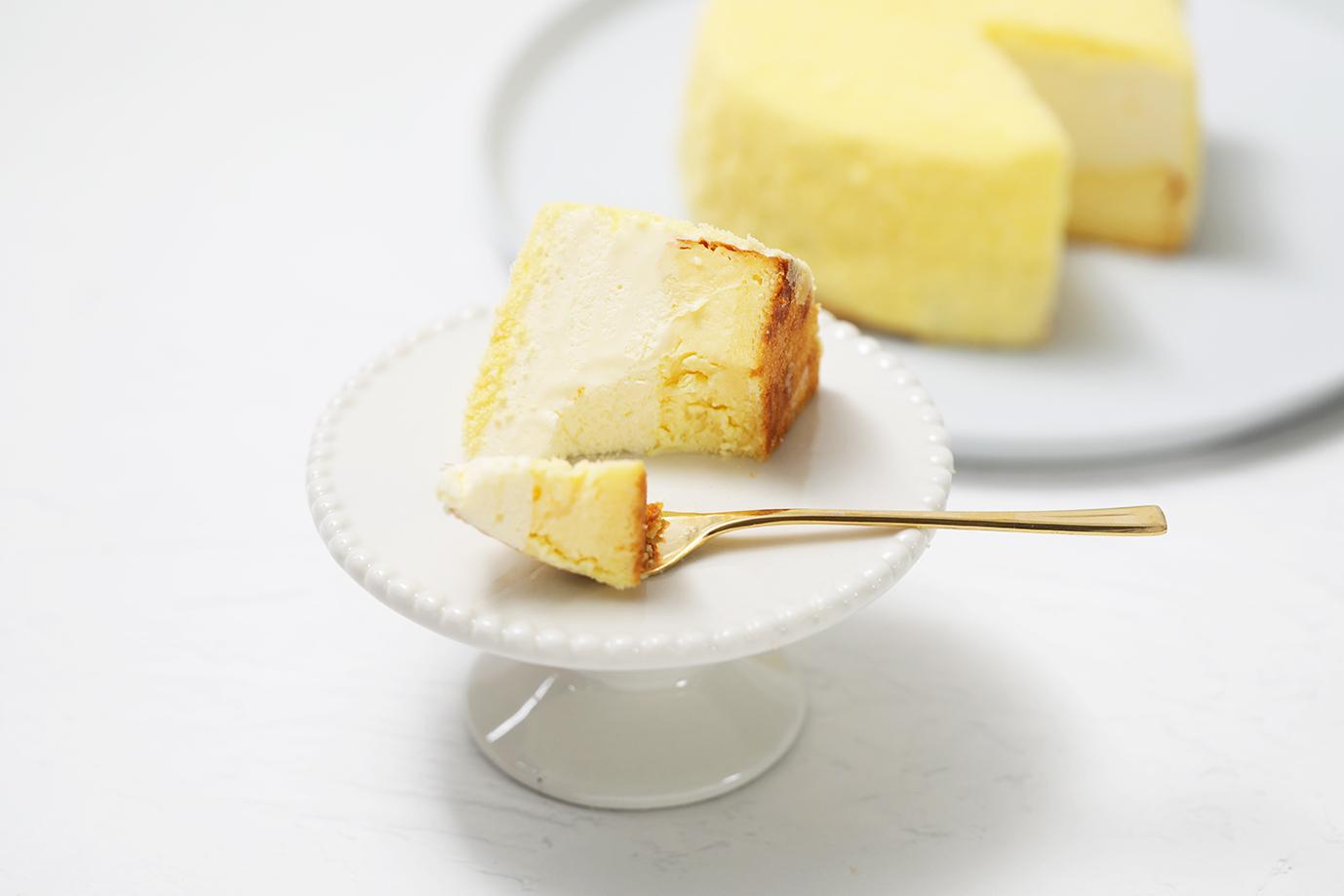 もふねこチーズケーキの断面