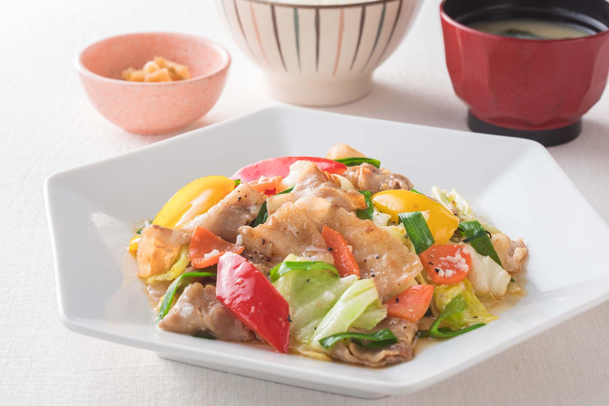 豚と野菜の塩麹炒め