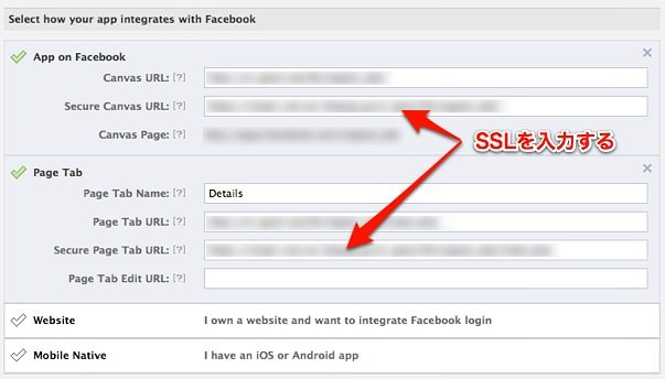 Facebook Developer Settings